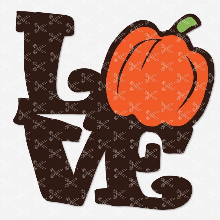 Download LOVE Pumpkin Fall Autumn SVG DXF PNG Files - High Quality ...