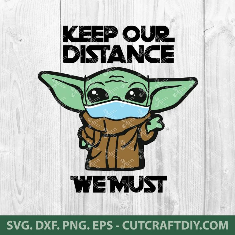 Download Baby Yoda with Medical Mask SVG, DXF, PNG, EPS, Cut Files