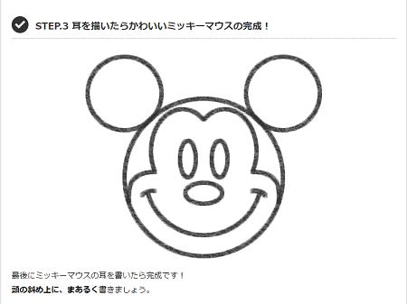 まる が成功の秘訣 ミッキーマウスのイラストが簡単に描ける