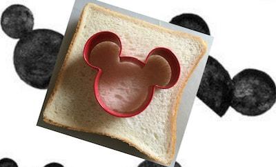 mickeypan01 min min - ミッキーマウスの目玉焼きトースト|作り方簡単! 休日のブランチにいかがですか?