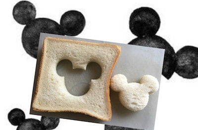 mickeypan02 min min - ミッキーマウスの目玉焼きトースト|作り方簡単! 休日のブランチにいかがですか?