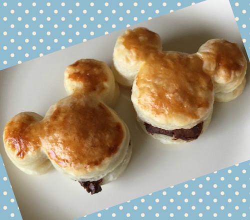 mickey pie01 - ミッキーのチョコパイ|美味しい 簡単 かわいいパイの作り方!!