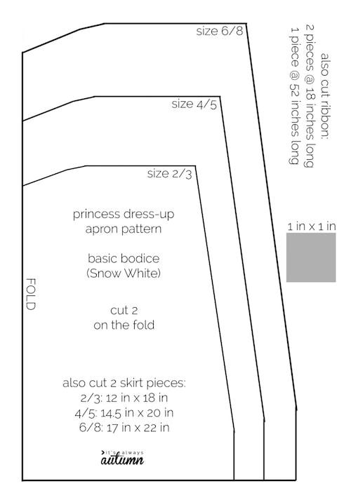 apron03 min - ディズニーハロウィン 子供の仮装にぴったり 〜 簡単 早い 安い「プリンセスエプロン」
