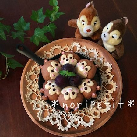 tigiri011 min - ディズニーでクリスマスの食卓を楽しみたい 〜 かわいいディズニーちぎりパン