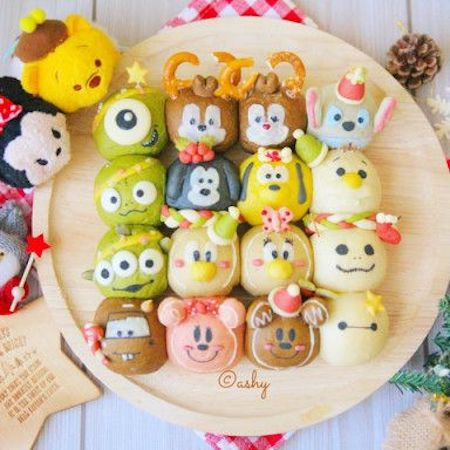 tigiri02 min - ディズニーでクリスマスの食卓を楽しみたい 〜 かわいいディズニーちぎりパン