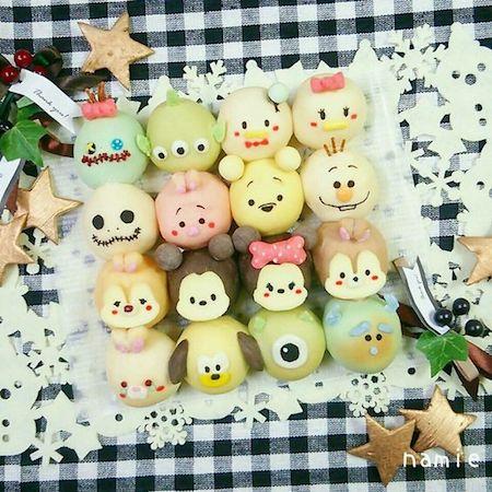 tigiri07 min - ディズニーデザインの【ちぎりパン】〜クリスマス、ハロウィン、イースターなどパーティーにも大活躍!!