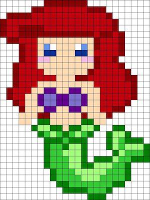 beads011 min - ディズニーキャラクター かわいいアイロンビーズ図案が無料でダウンロードできる!!