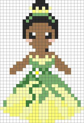 beads014 min - ディズニーキャラクター かわいいアイロンビーズ図案が無料でダウンロードできる!!