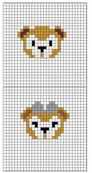 du01 min - ダッフィー【図案】〜 アイロンビーズやアクアビーズ、編みぐるみまでハンドメイドしたい!!