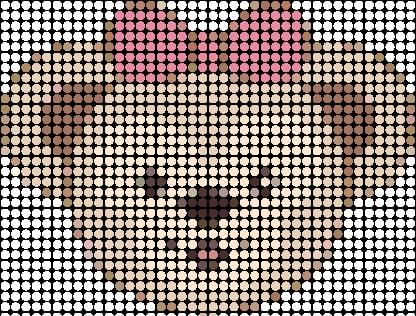 du012 min - ダッフィー【図案】〜 アイロンビーズやアクアビーズ、編みぐるみまでハンドメイドしたい!!