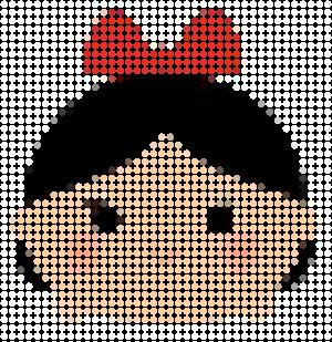 tsuzu010 min - ディズニーツムツム 図案14点 〜 アイロンビーズ アクアビーズの無料図案から作り方まで