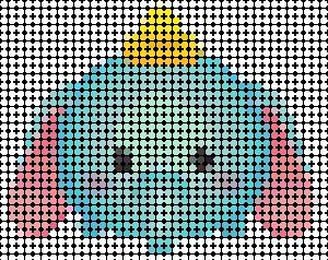 tsuzu02 min - ディズニーツムツム 図案14点 〜 アイロンビーズ アクアビーズの無料図案から作り方まで