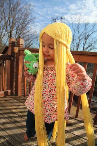 arre05 min - 【ディズニープリンセスヘア ウィッグ】30分でできる簡単、速い、低価格のオリジナルウィッグ〜仮装にぴったり!!