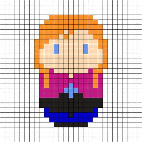 sikaku022 min - 【アイロンビーズ無料図案】四角いプレートを利用してディズニーキャラクターを作ろう!!〜フレンズからプリンセスまで【15点追加】