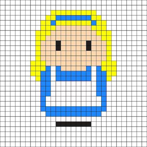sikaku023 min - 【アイロンビーズ無料図案】四角いプレートを利用してディズニーキャラクターを作ろう!!〜フレンズからプリンセスまで【15点追加】