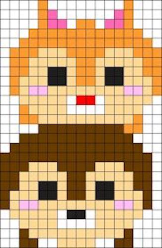 sikaku07 min - 【アイロンビーズ無料図案】四角いプレートを利用してディズニーキャラクターを作ろう!!〜フレンズからプリンセスまで【15点追加】