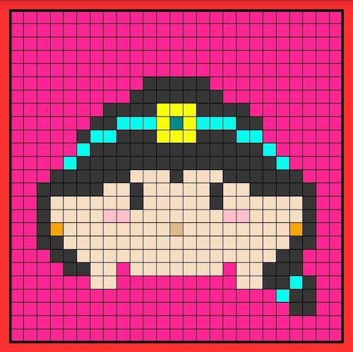 tuika01 min - 【アイロンビーズ無料図案】四角いプレートを利用してディズニーキャラクターを作ろう!!〜フレンズからプリンセスまで【15点追加】