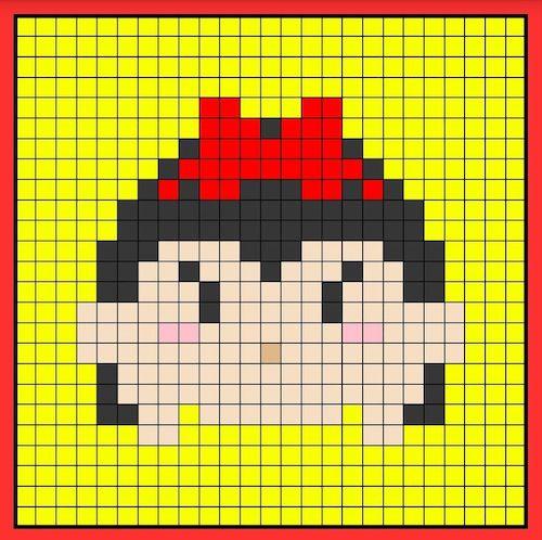 tuika010 min - 【アイロンビーズ無料図案】四角いプレートを利用してディズニーキャラクターを作ろう!!〜フレンズからプリンセスまで【15点追加】