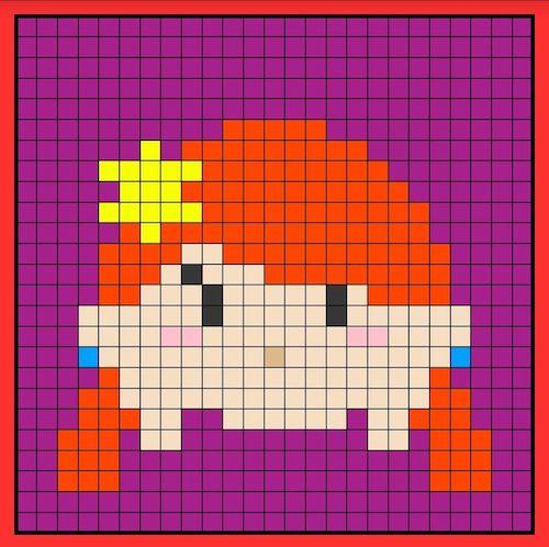 tuika012 min - 【アイロンビーズ無料図案】四角いプレートを利用してディズニーキャラクターを作ろう!!〜フレンズからプリンセスまで【15点追加】
