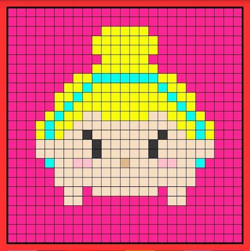 tuika013 min - 【アイロンビーズ無料図案】四角いプレートを利用してディズニーキャラクターを作ろう!!〜フレンズからプリンセスまで【15点追加】