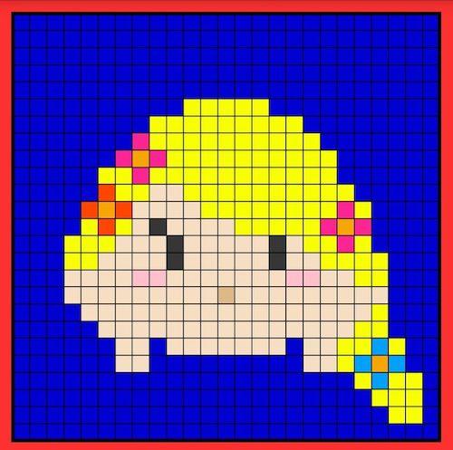 tuika03 min - 【アイロンビーズ無料図案】四角いプレートを利用してディズニーキャラクターを作ろう!!〜フレンズからプリンセスまで【15点追加】