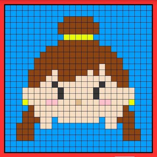tuika04 min - 【アイロンビーズ無料図案】四角いプレートを利用してディズニーキャラクターを作ろう!!〜フレンズからプリンセスまで【15点追加】