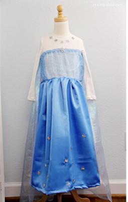 elsa05 - 【エルサドレス】簡単な作り方〜ハロウィン仮装に!!