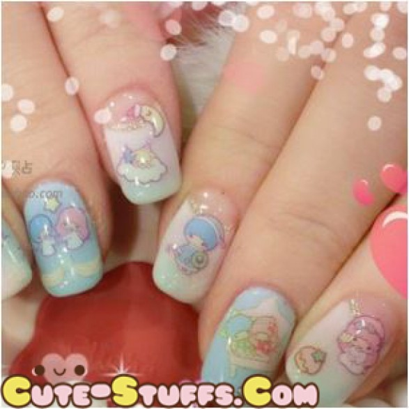 Rare Kawaii Nail Stickers Pucca