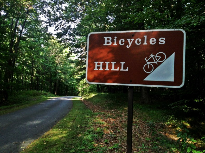 Bicycles Hill Sign