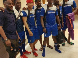 Mr P of Psquare, Kanu Nwankwo And Others Appears In Football Attire