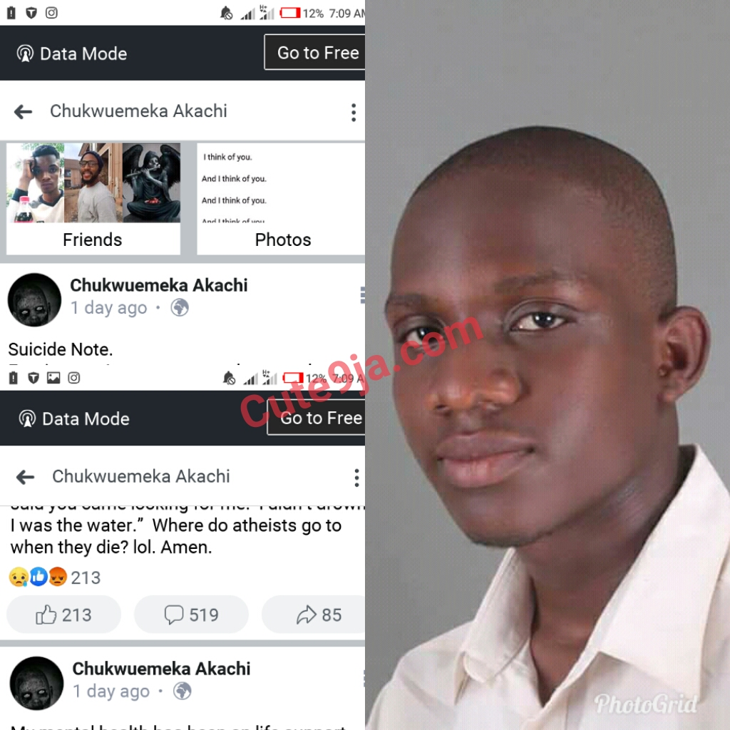 UNN final year student commits suicide after battling mental health