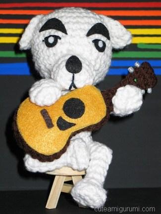 k.k. slider amigurumi with guitar
