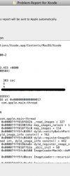 Xcode crash log