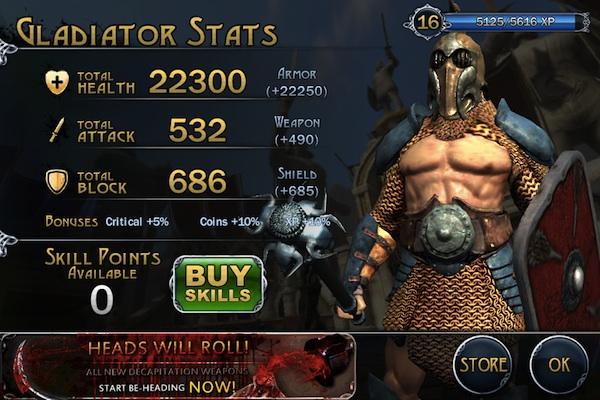 Gladiator Stats