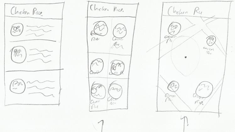 Chicken rice prototype sketch