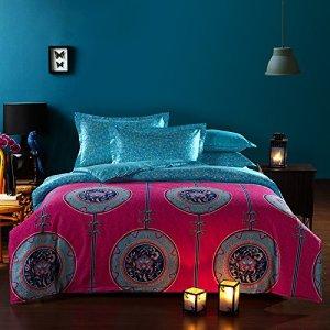 blue-pink-boho-style-duvet-cover-set