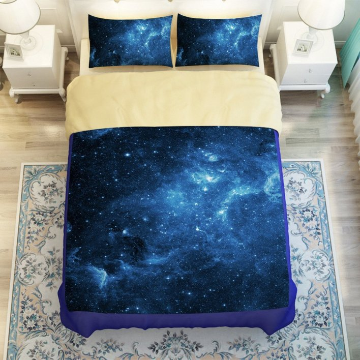 Even Galaxy Bedding Gets the Blues!