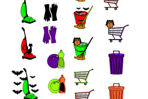 free printable Halloween themed cleaning stickers