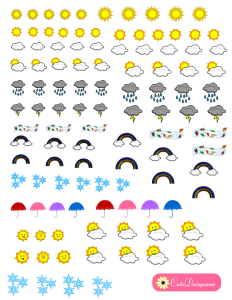 free printable weather stickers for planner