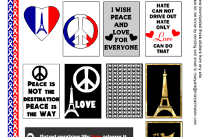 Peace and Praying for Paris Stickers