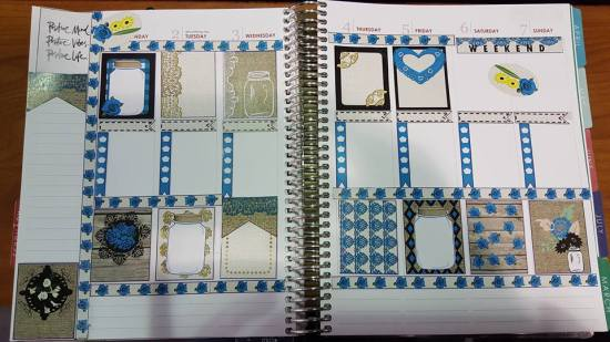 Rustic Stickers used in Planner
