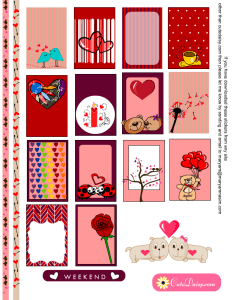 Free Printable Valentine's Day Planner Stickers