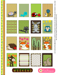 Free Printable Woodland animals Planner Stickers for ECLP