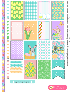 Free Printable Easter Stickers for Happy Planner