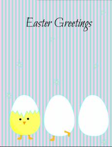 Cute Easter Greeting Card Printable