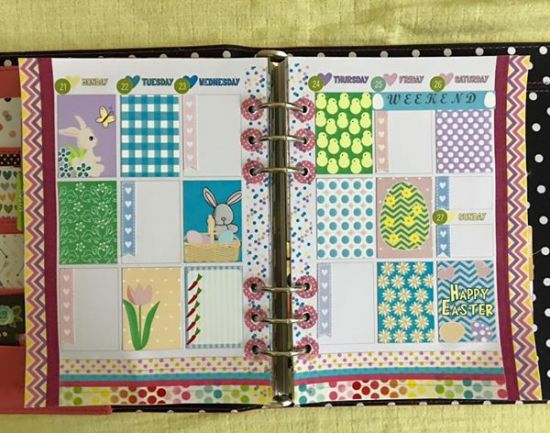 Easter stickers planner layout