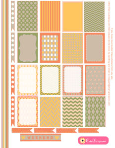 Free Printable Stickers in Spring Colors