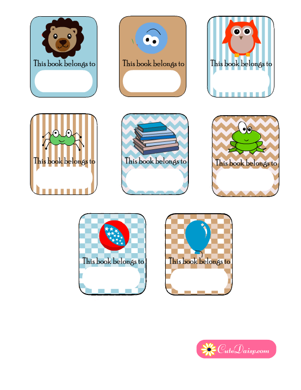 picture about Free Printable Book Labels named Cost-free Printable Ebook Labels for Little ones