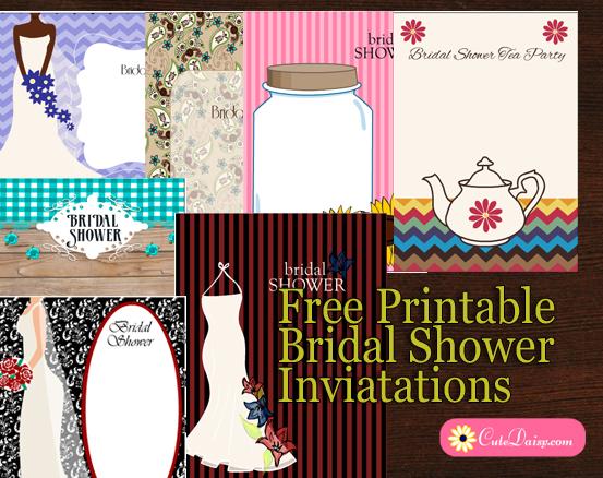 Diy Bridal Shower Invitations Printable
