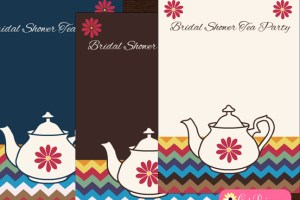 Free Printable Bridal Shower Tea Party Invitation Templates